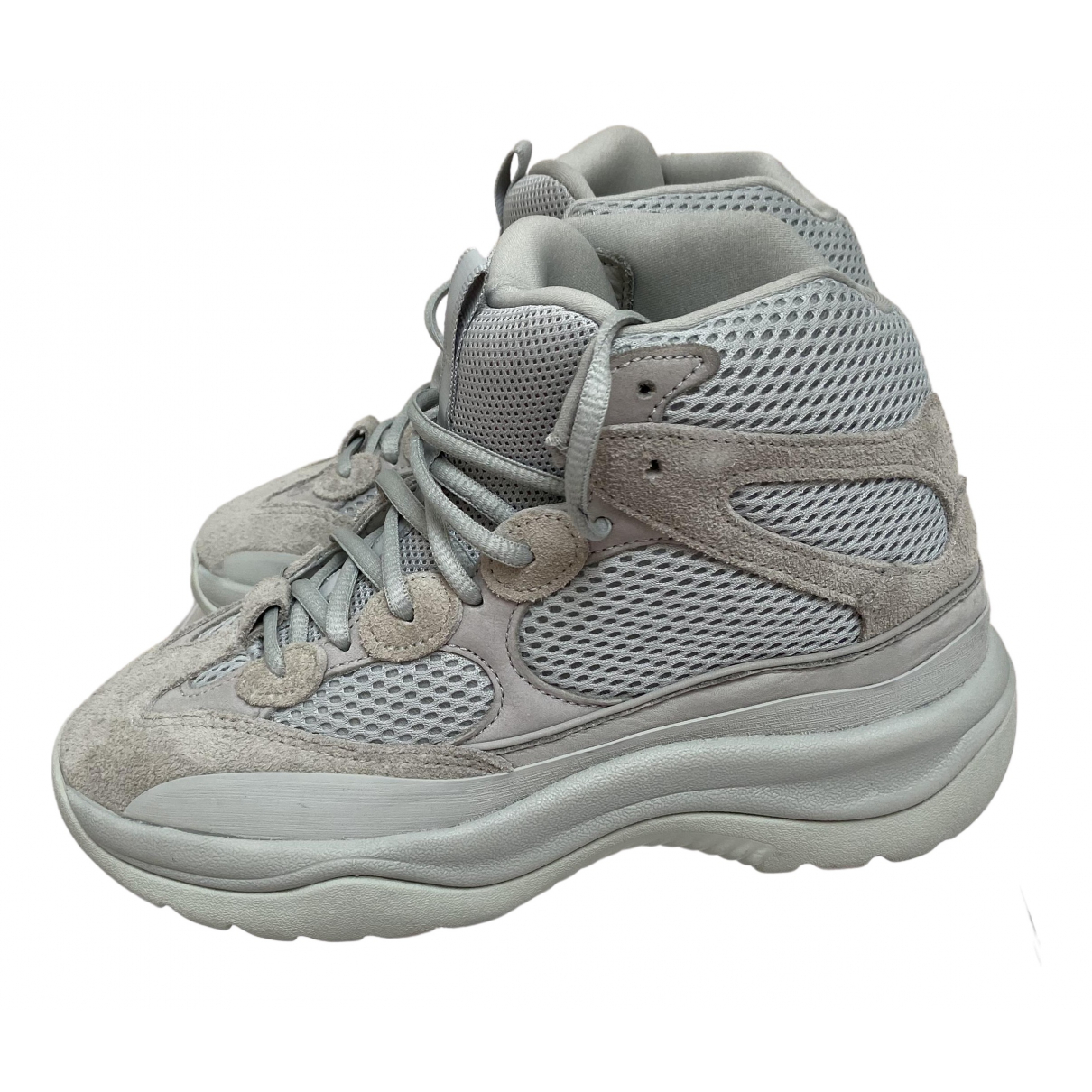 Yeezy X Adidas \N Grey Suede Boots for Women 5 UK