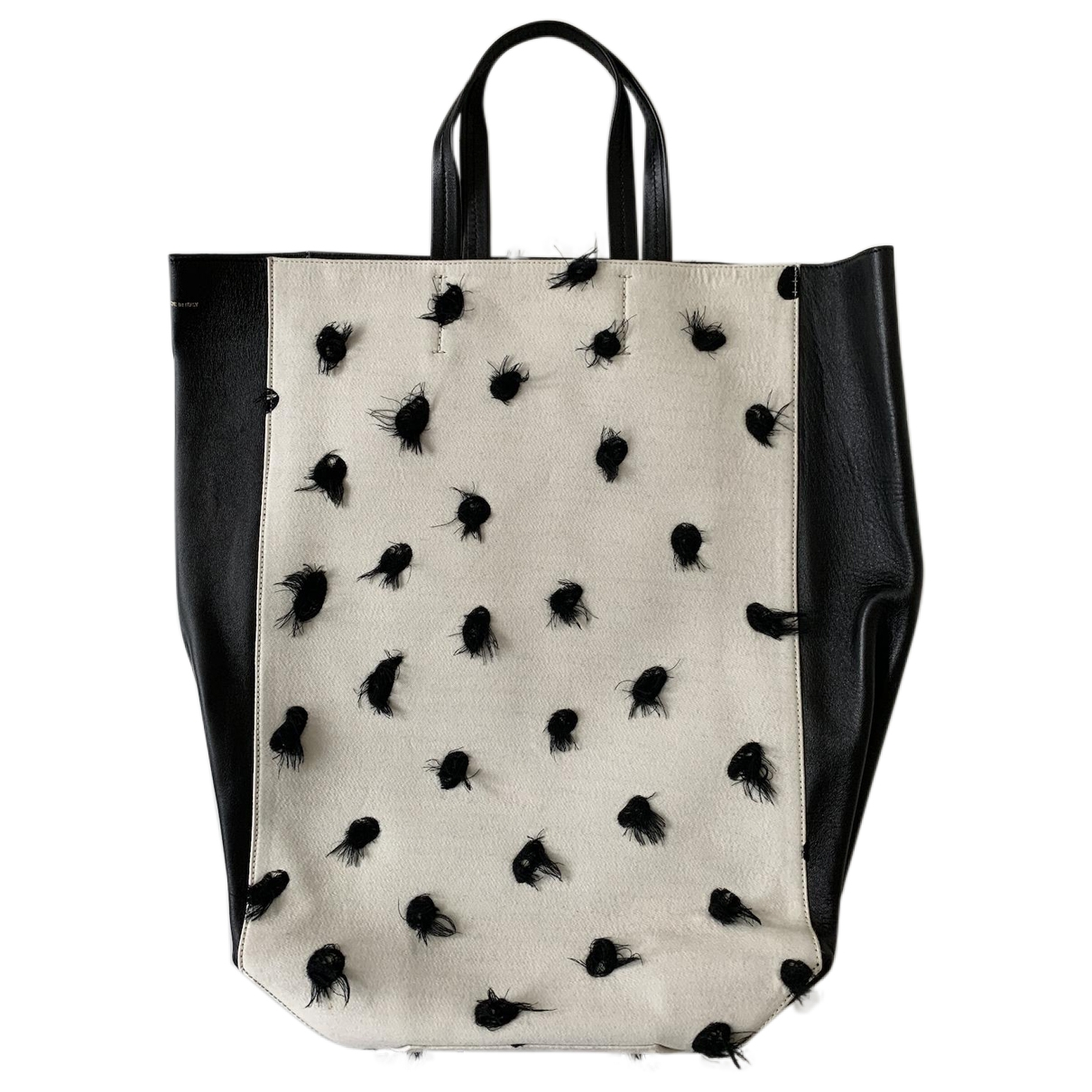 Celine Cabas Handtasche in  Weiss Baumwolle