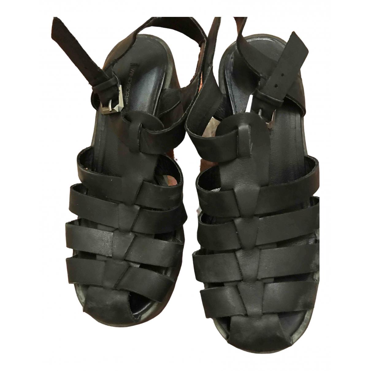 Windsor Smith \N Clogs in  Schwarz Leder