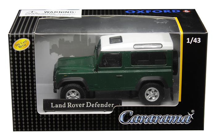 Land Rover Defender Dark Green 1/43 Diecast Model Car by Cararama