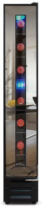 Mirrored Series VT-7BMSL-FE 6 Wide Wine Cooler with 7-Bottle Capacity  Touch Screen Temperature Control  Wired Shelves and Dual-Pane Glass Door in