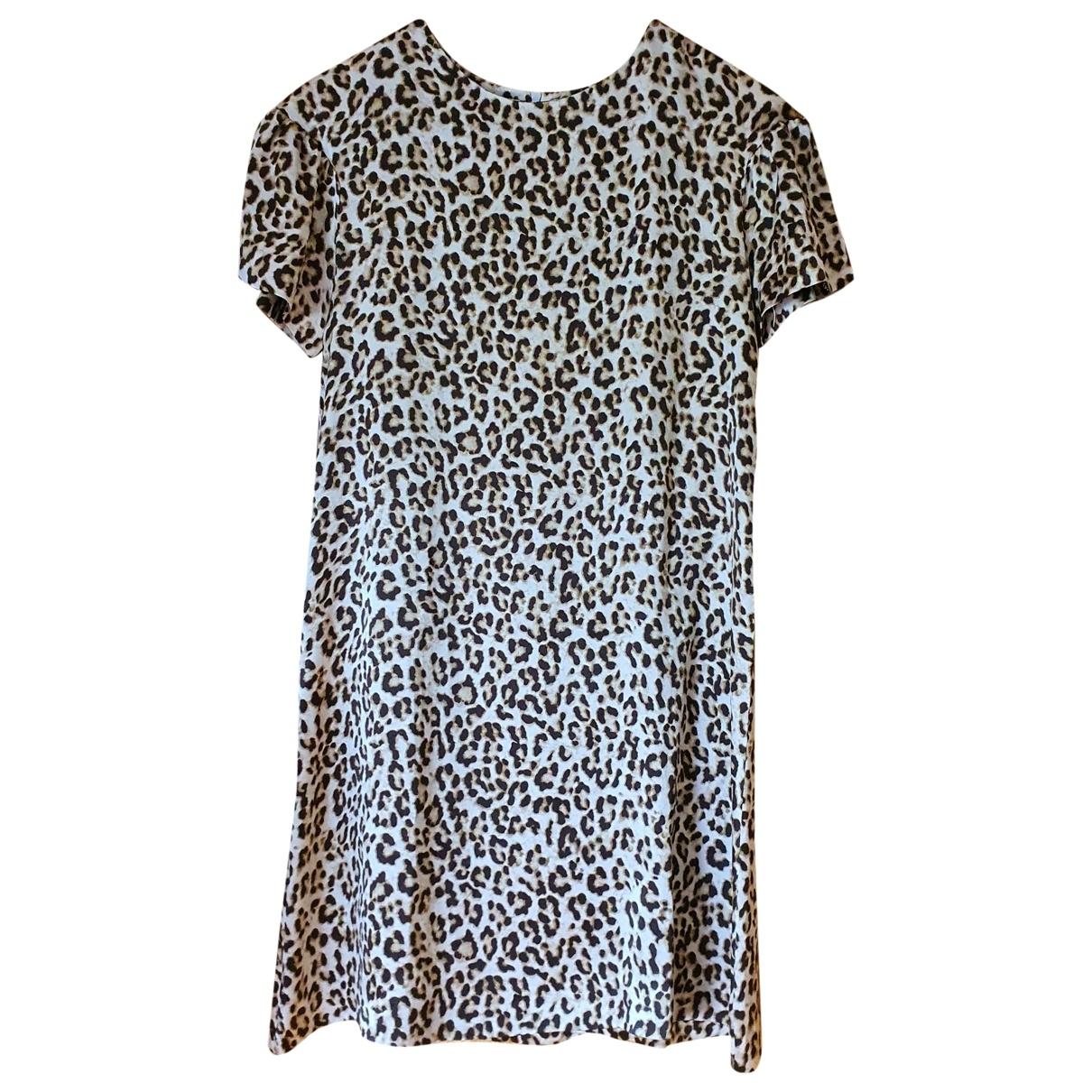Non Signé / Unsigned \N Beige Silk dress for Women 38 FR
