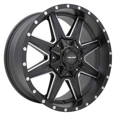 Pro Comp 48 Series Quick 8, 20x9 Wheel with 8x170 Bolt Pattern - Satin Black Milled - 5148-297050