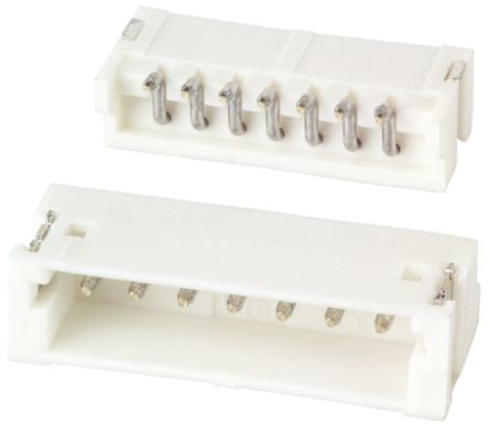 JST , ZH, 7 Way, 1 Row, Side Entry PCB Header (10)