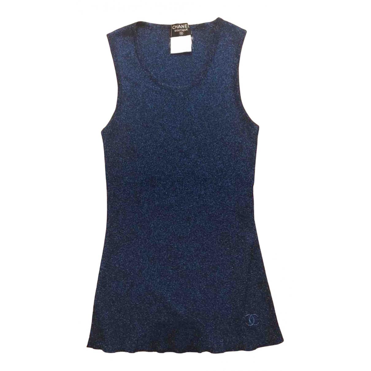 Chanel - Top   pour femme en coton - bleu