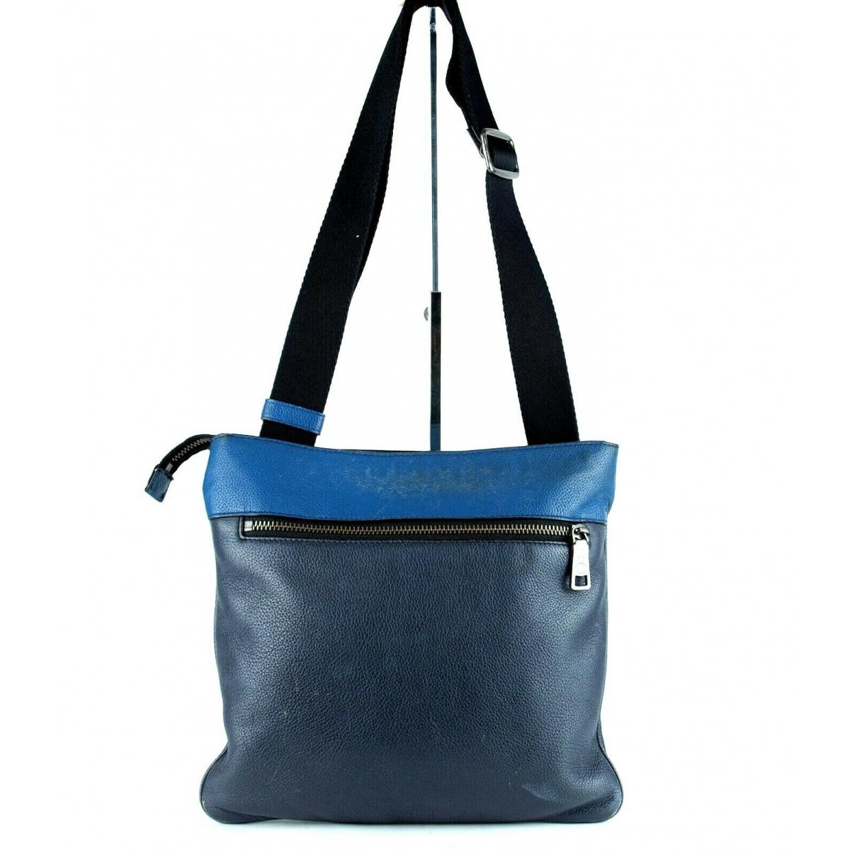 Coach \N Handtasche in  Blau Leder