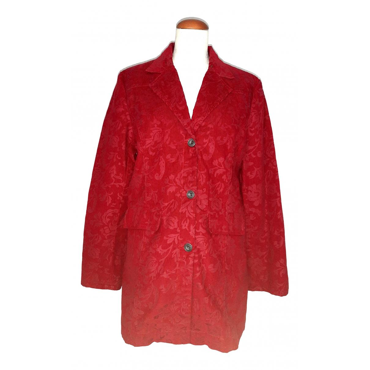 - Manteau   pour femme en coton - rouge