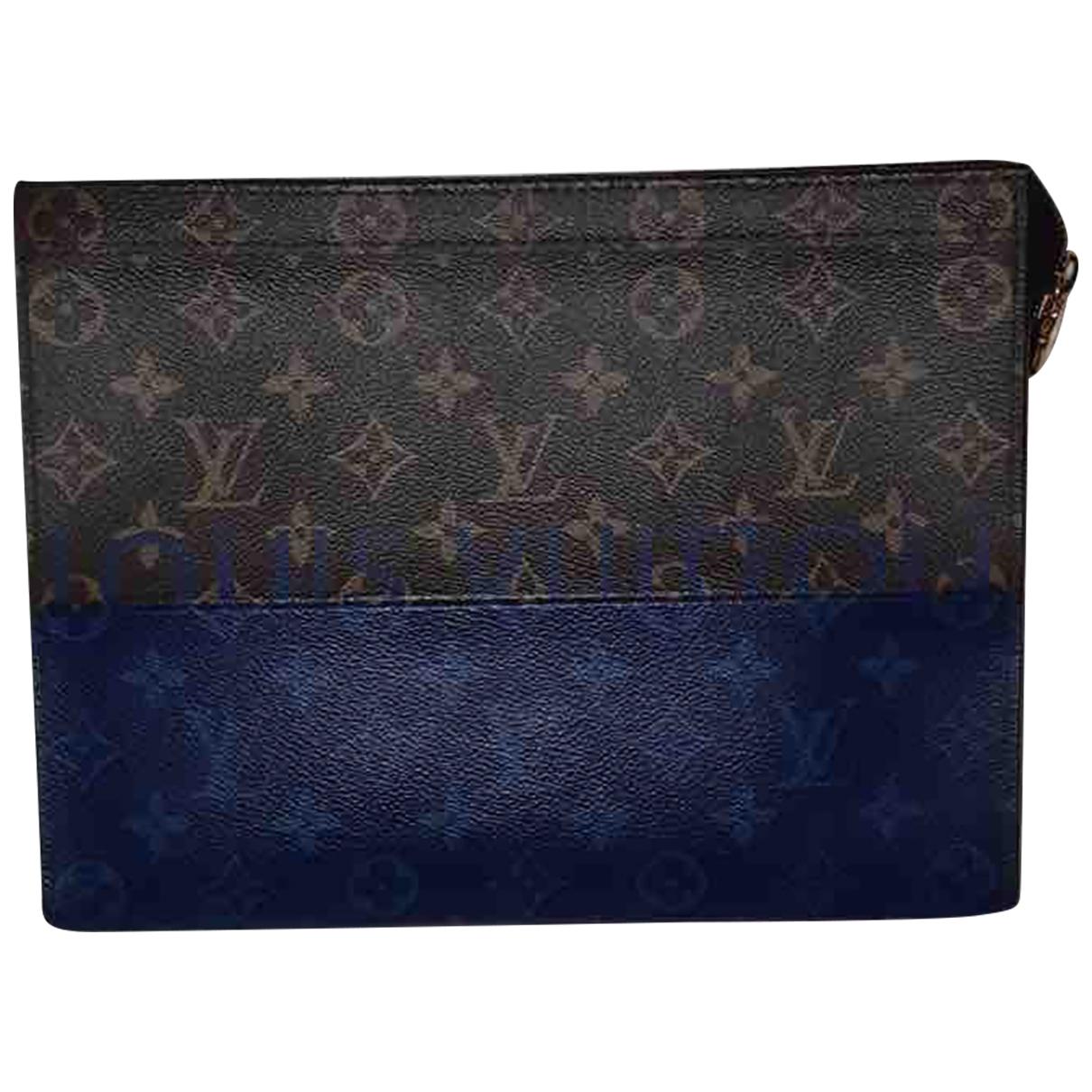 Louis Vuitton \N Kleinlederwaren in  Blau Leinen