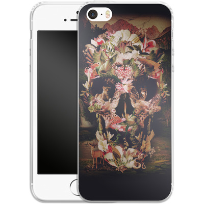 Apple iPhone 5s Silikon Handyhuelle - Jungle Skull von Ali Gulec