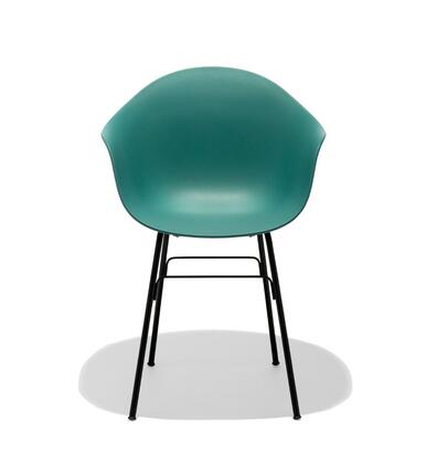 TA Collection TO-1733OB-1501BB Upholstered Armchair/YI Base Black & Black Oak/Ocean Blue