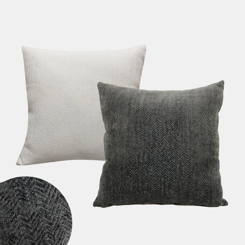 Nordic Three-dimensional Pattern Cushion Chenille Jacquard Pillow Home Bedroom Square Pillowcase
