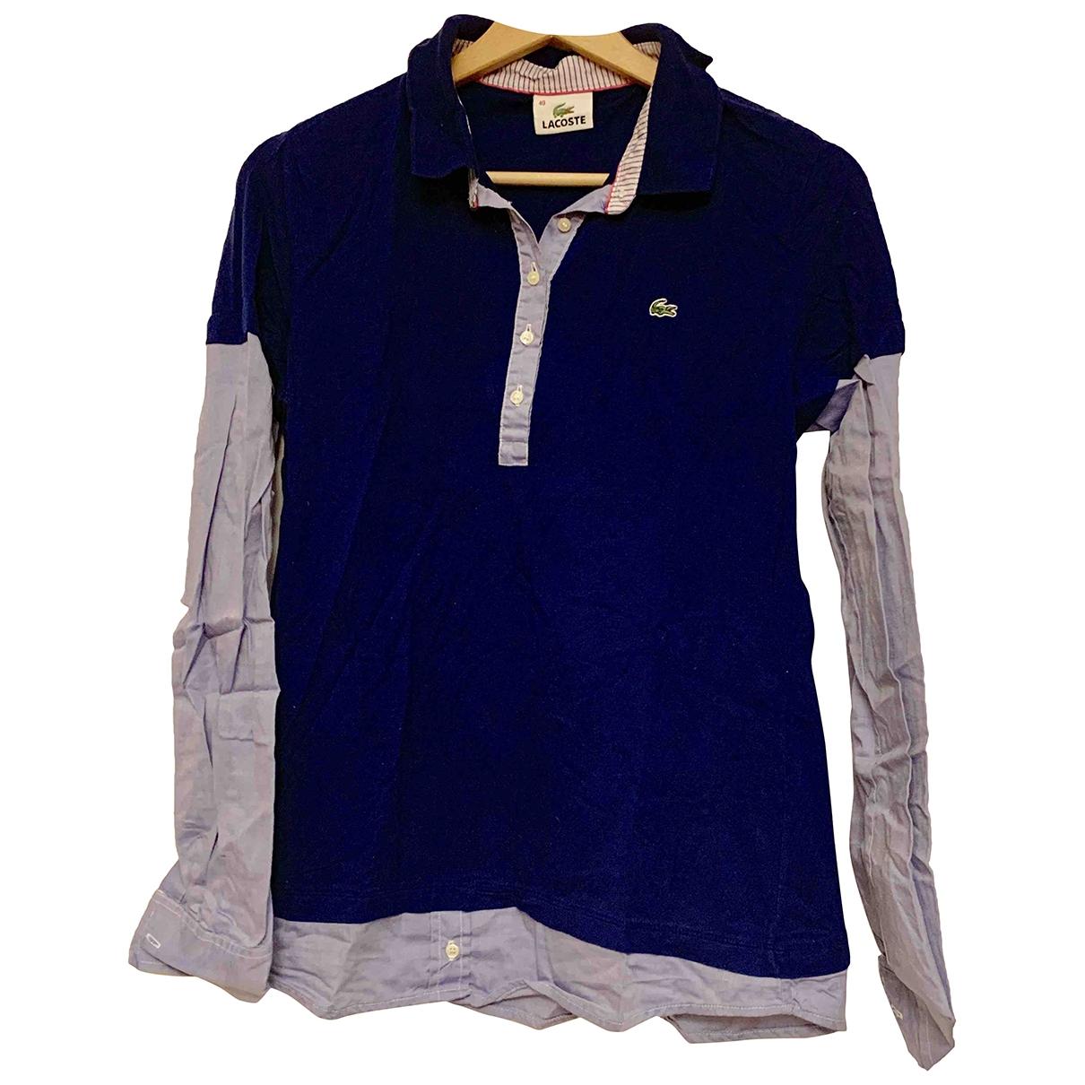 Lacoste \N Top in  Blau Baumwolle