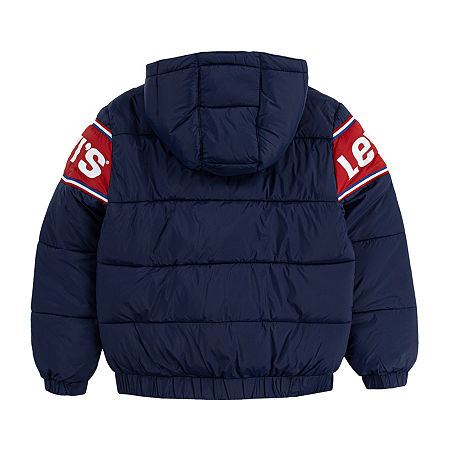 Levi's Little Boys Heavyweight Puffer Jacket, 7 , Blue