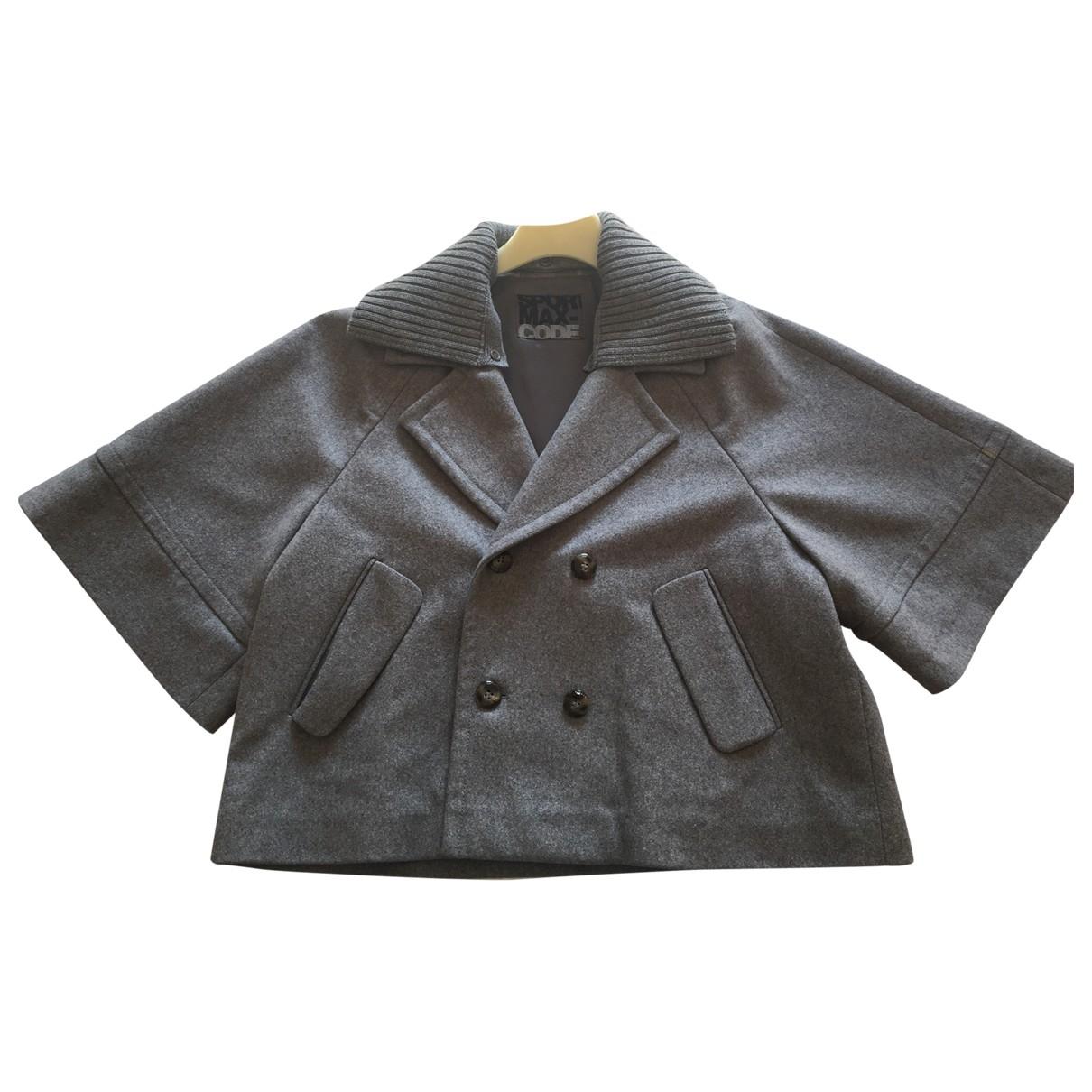 Max Mara \N Jacke in  Grau Wolle