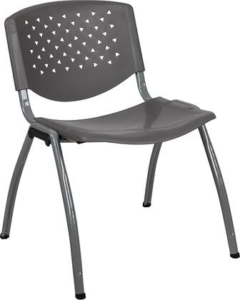 Hercules Collection RUT-F01A-GY-GG Multipurpose Stack Chair with Titanium Gray Powder Coated Frame  Perforated Back  Ergonomically Contoured Design