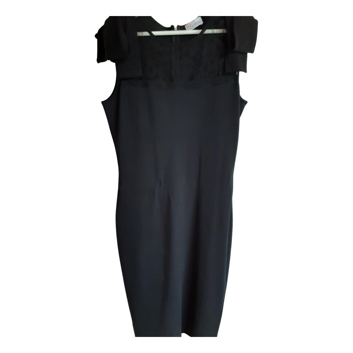 Red Valentino Garavani - Robe   pour femme en coton - elasthane - noir