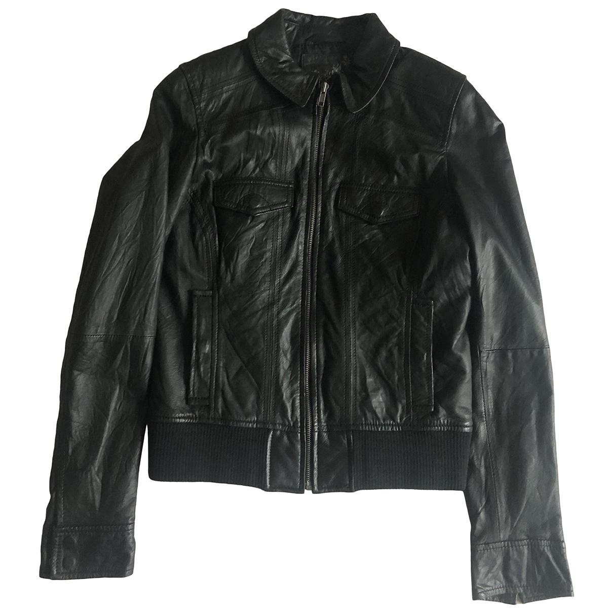 Zara \N Jacke in  Schwarz Leder