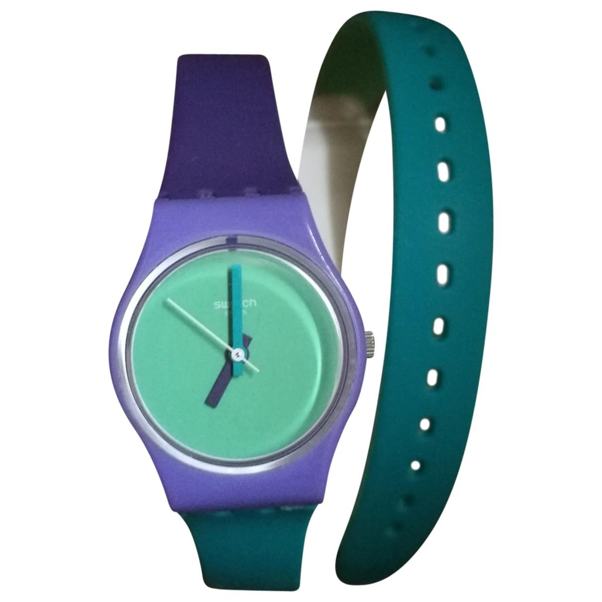 Swatch - Montre   pour femme en caoutchouc - violet
