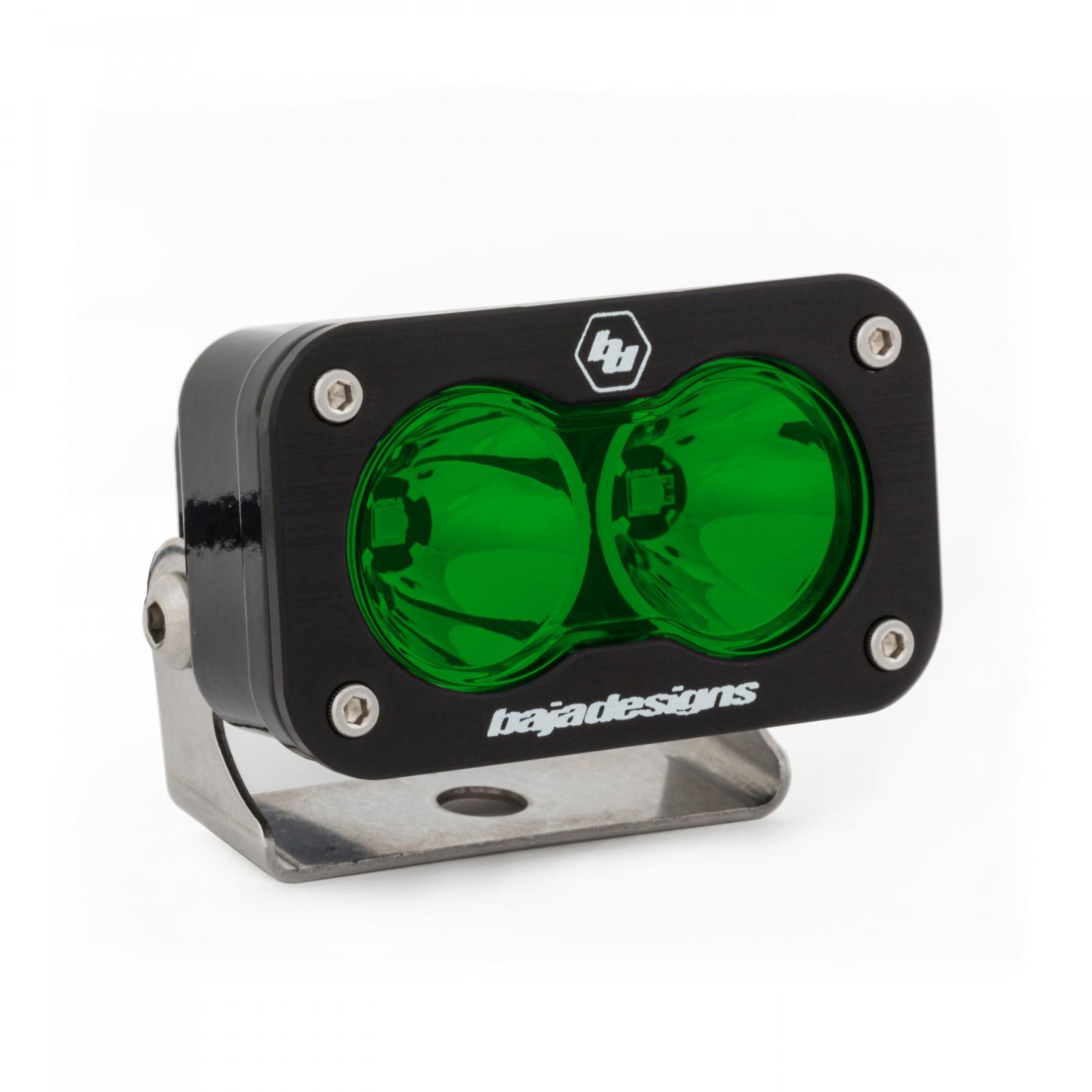 Baja Designs 480001GR LED Light Pod Spot Pattern Green S2 Pro