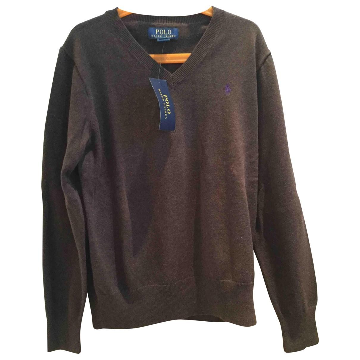Polo Ralph Lauren \N Pullover, StrickJacke in  Braun Baumwolle