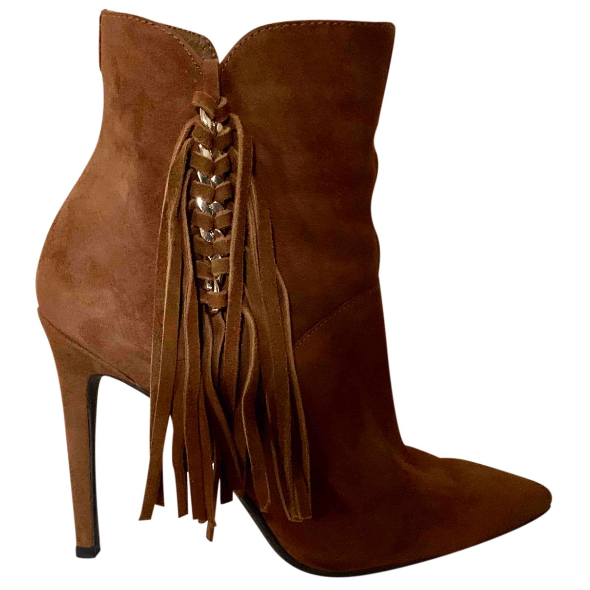 Guess N Brown Pony-style calfskin Boots for Women 39 IT