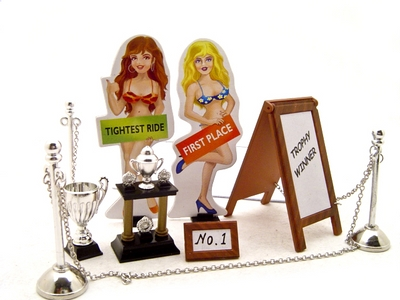 Car Show Trophy Set For 1/24 Scale Model Cars by Kinsfun