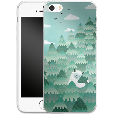 Apple iPhone SE Silikon Handyhuelle - Tree Hugger von Little Clyde