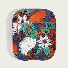 1 pieza funda de Airpods con estampado de flor