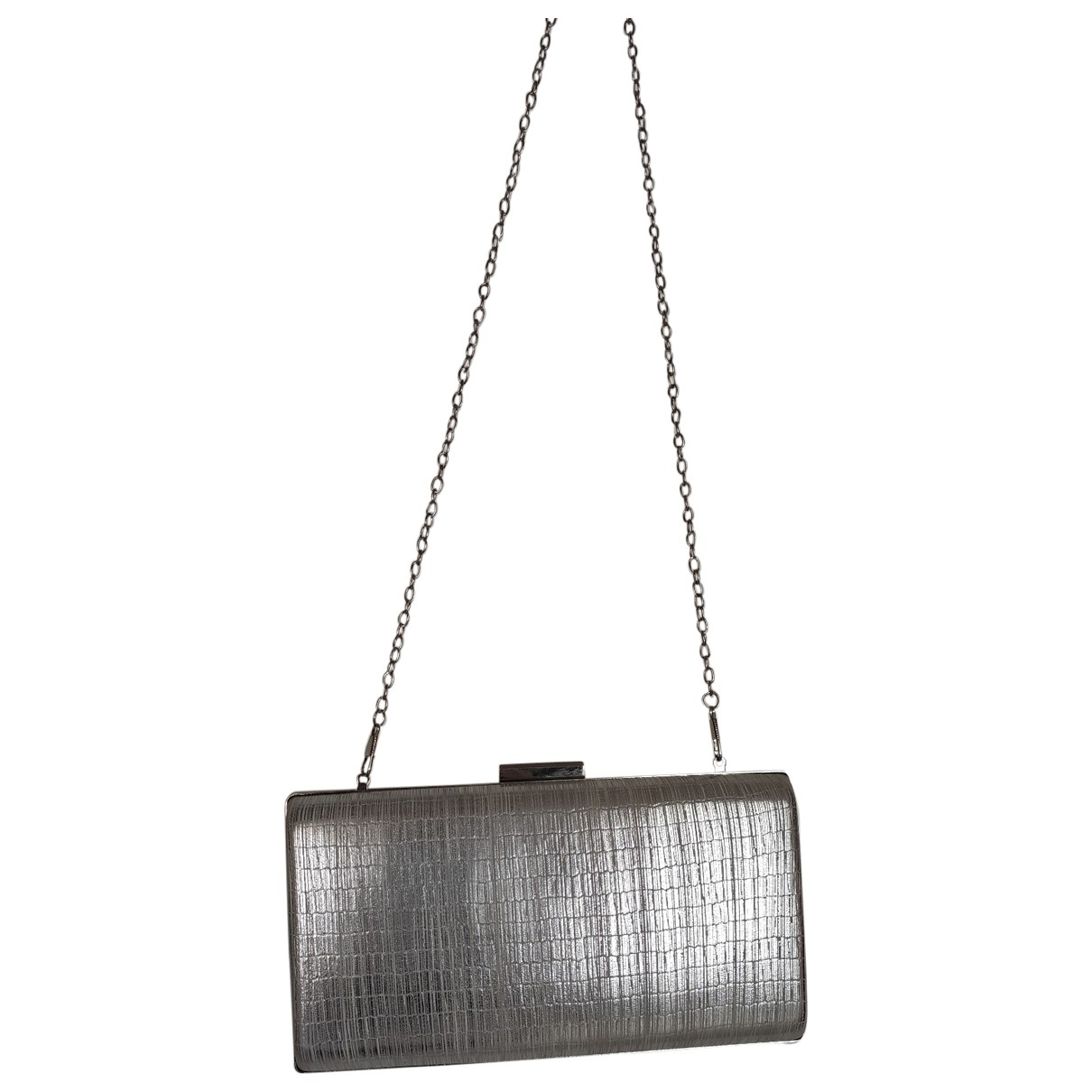 Non Signé / Unsigned \N Silver Patent leather Clutch bag for Women \N