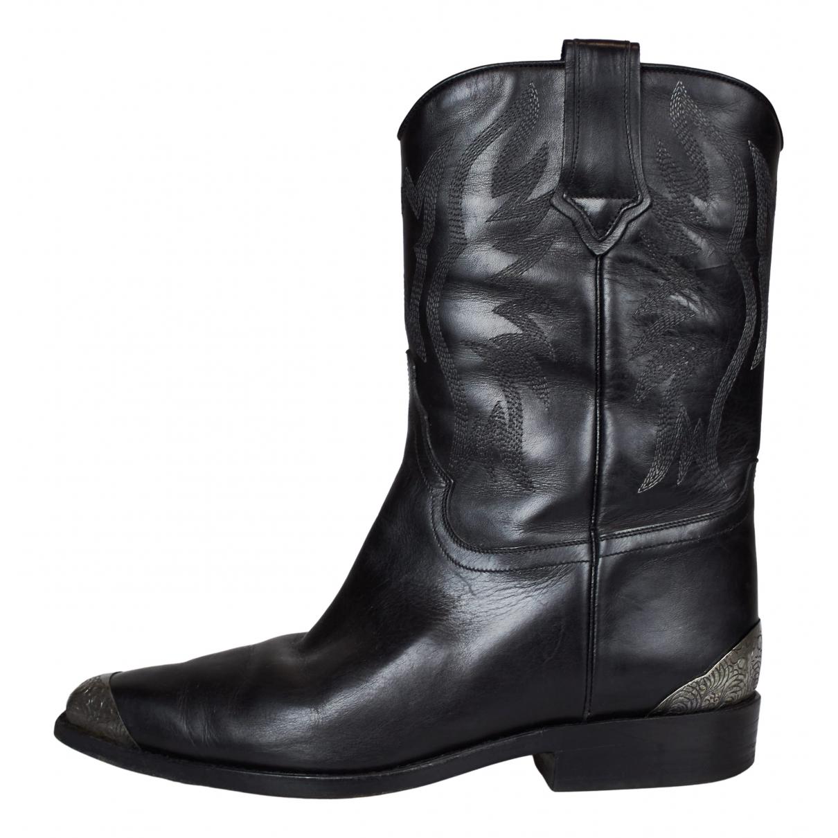 Sartore \N Stiefel in  Schwarz Leder