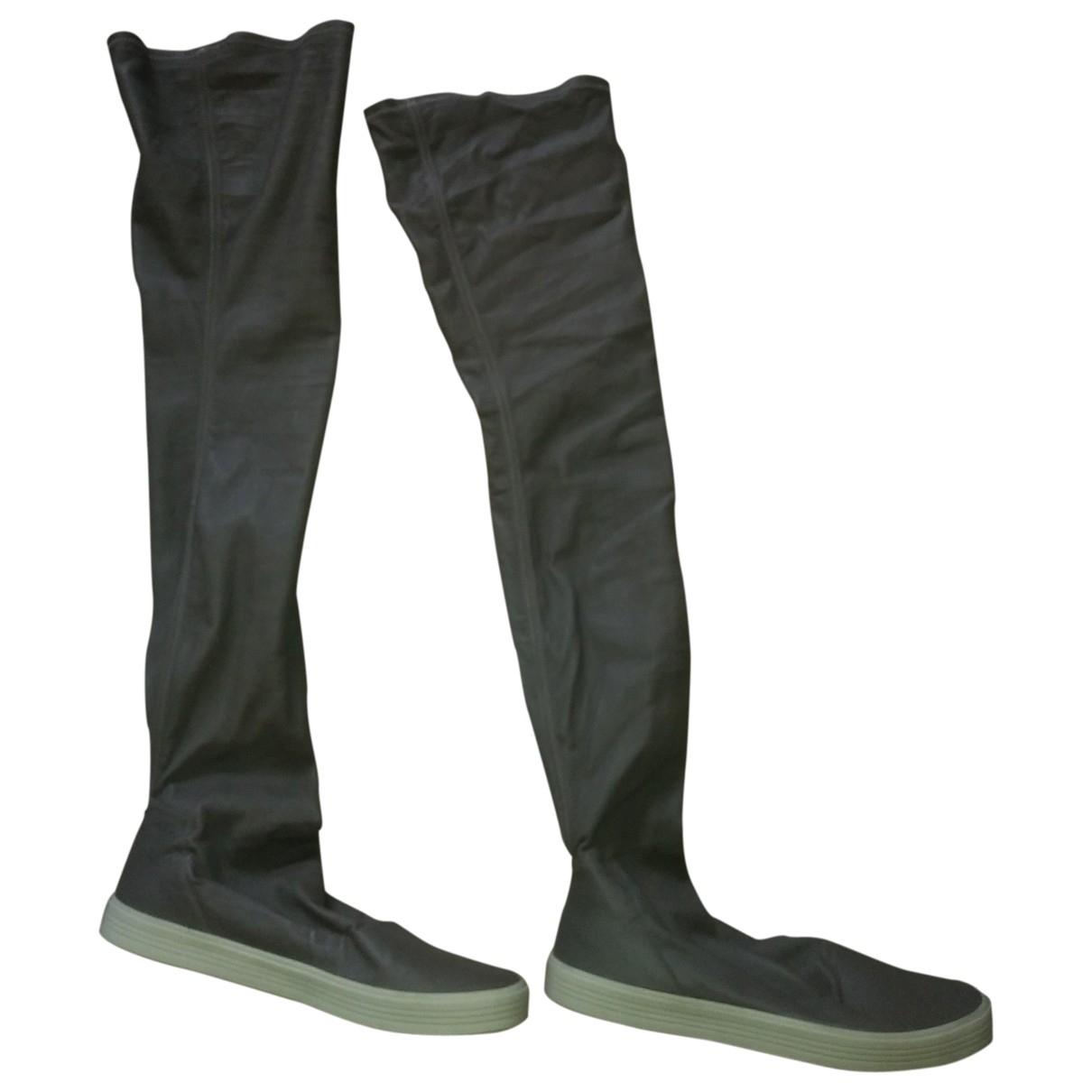 Rick Owens \N Stiefel in  Grau Leder
