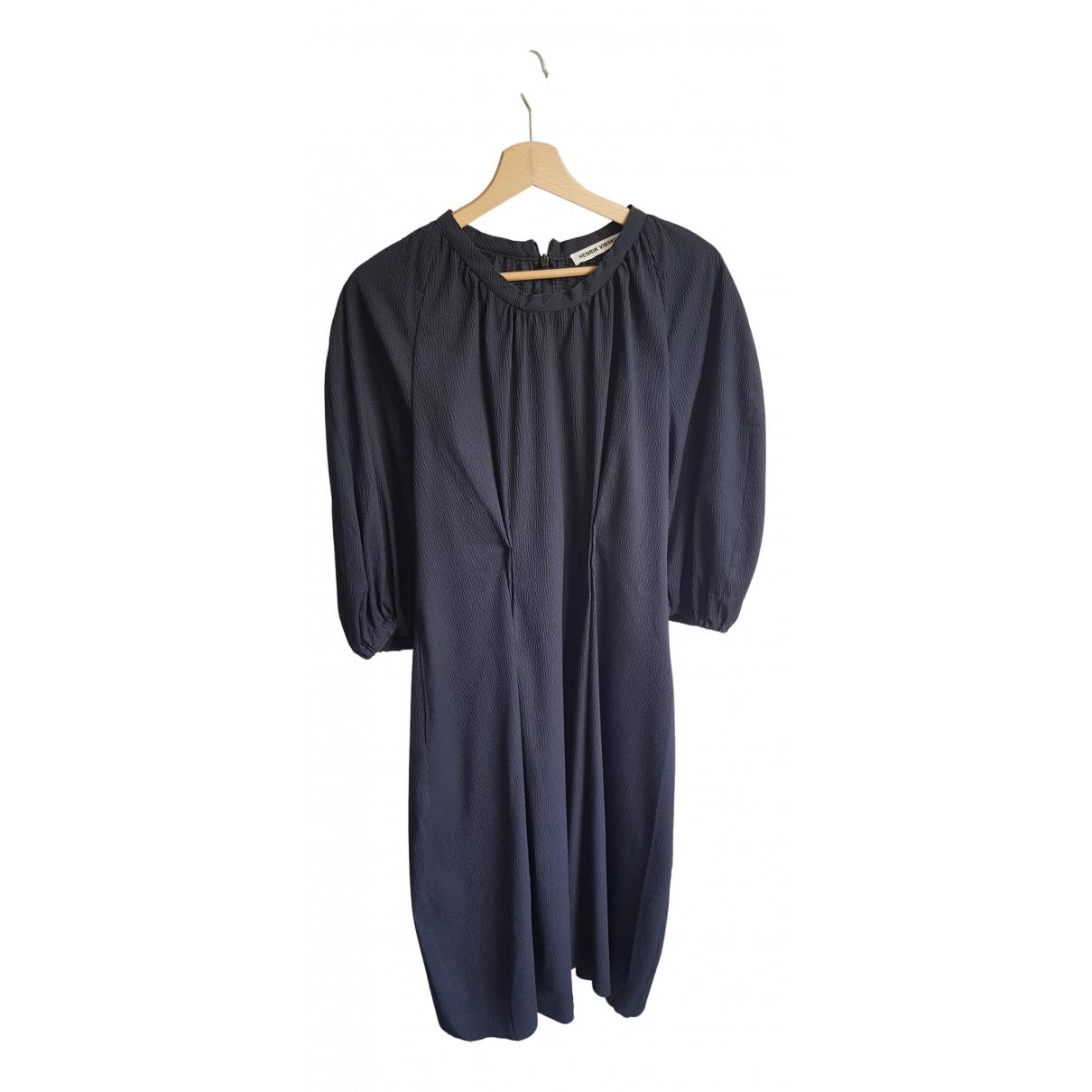 Henrik Vibskov \N Kleid in  Blau Polyester