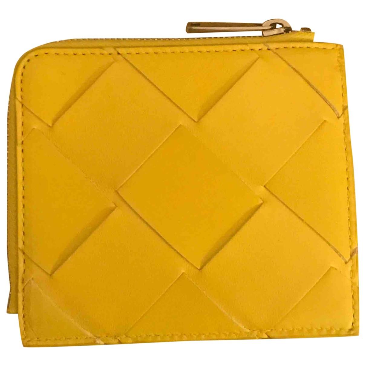 Bottega Veneta - Petite maroquinerie   pour homme en cuir - jaune
