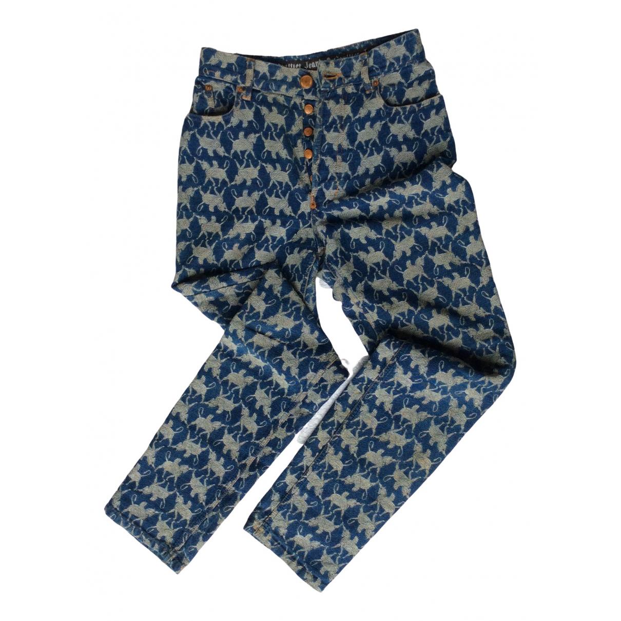 Jean Paul Gaultier \N Navy Denim - Jeans Jeans for Women 36 FR