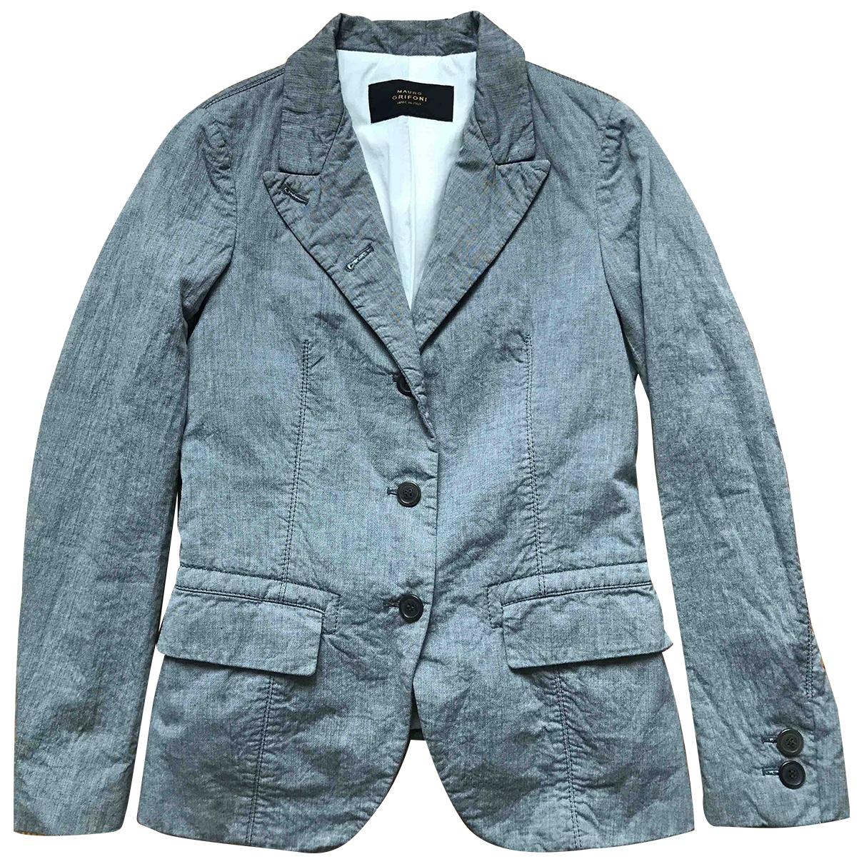 Mauro Grifoni \N Grey Cotton jacket for Women 40 IT
