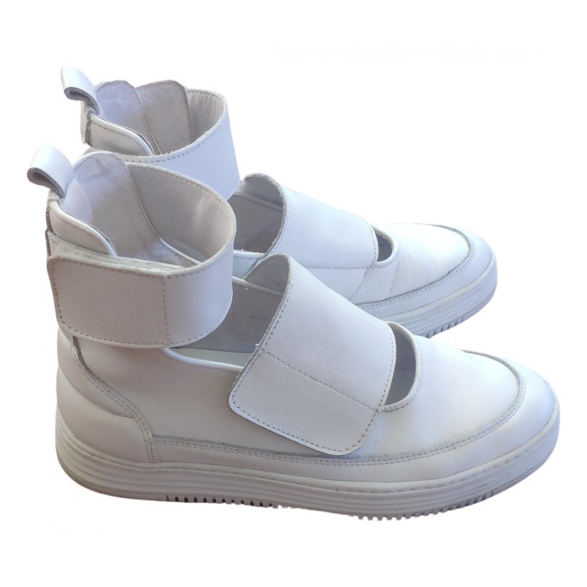 Filling Pieces \N Sneakers in  Weiss Leder