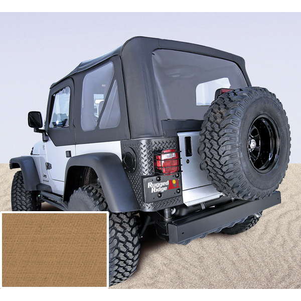 Rugged Ridge 13725.37 XHD Soft Top, Spice, Tinted Windows; 97-06 Jeep Wrangler TJ Jeep Wrangler 1997-2002