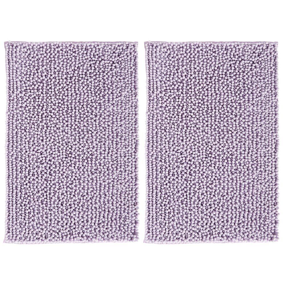 mDesign Microfiber Bathroom Rug - Pack of in Lavender, 30