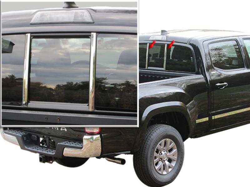 QAA Sliding Rear Window Trim Accents Toyota Access Cab Tacoma | TRD Tacoma | SR5 Tacoma | TRD Sport Tacoma | TRD OffRoad Tacoma 16-18