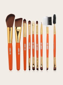 9 Stuecke Makeup Buerste Set