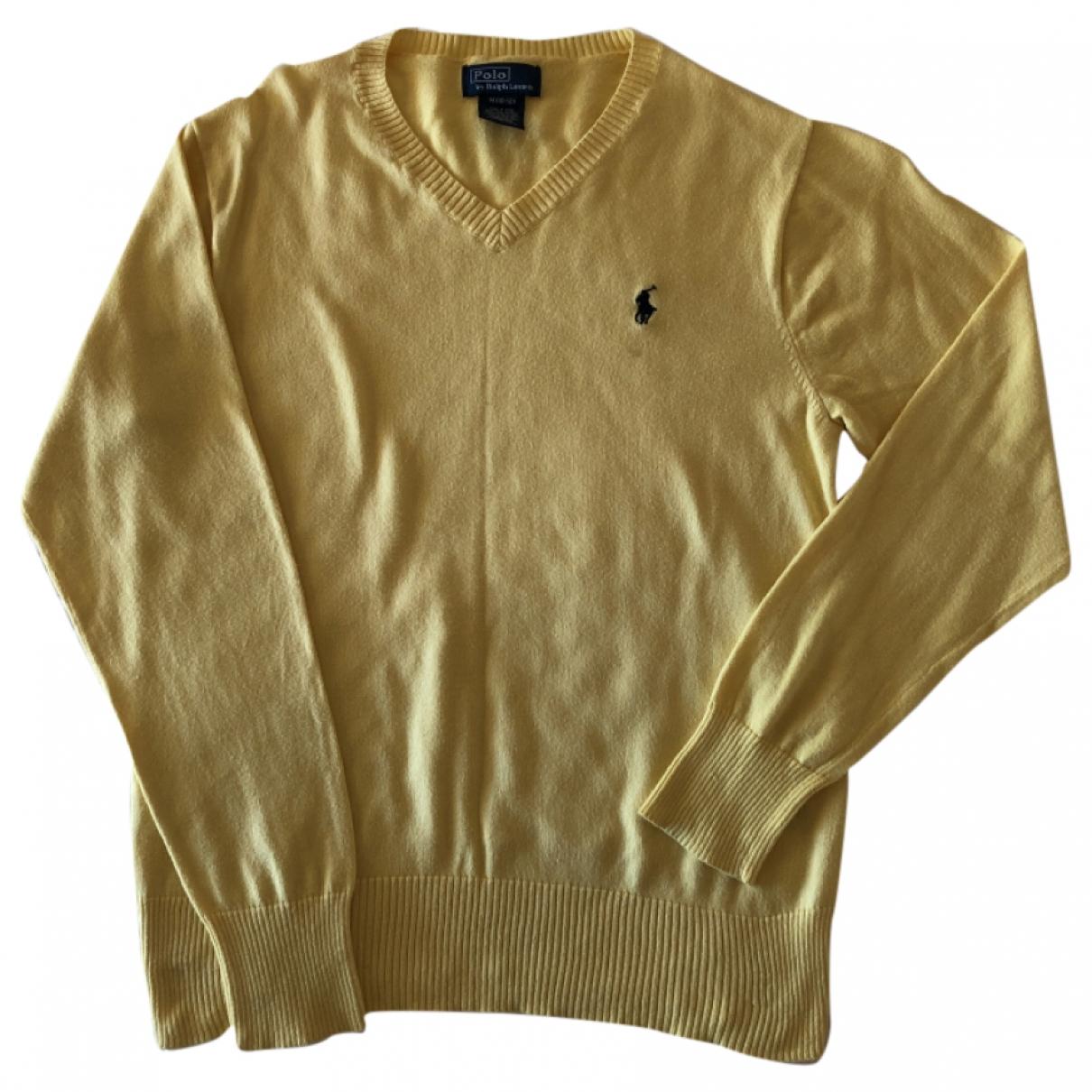 Polo Ralph Lauren \N Yellow Cotton Knitwear for Kids 12 years - XS FR