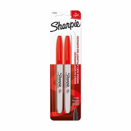 Sharpie® Fine Point Permanent Marker, 2 / Pack, Red