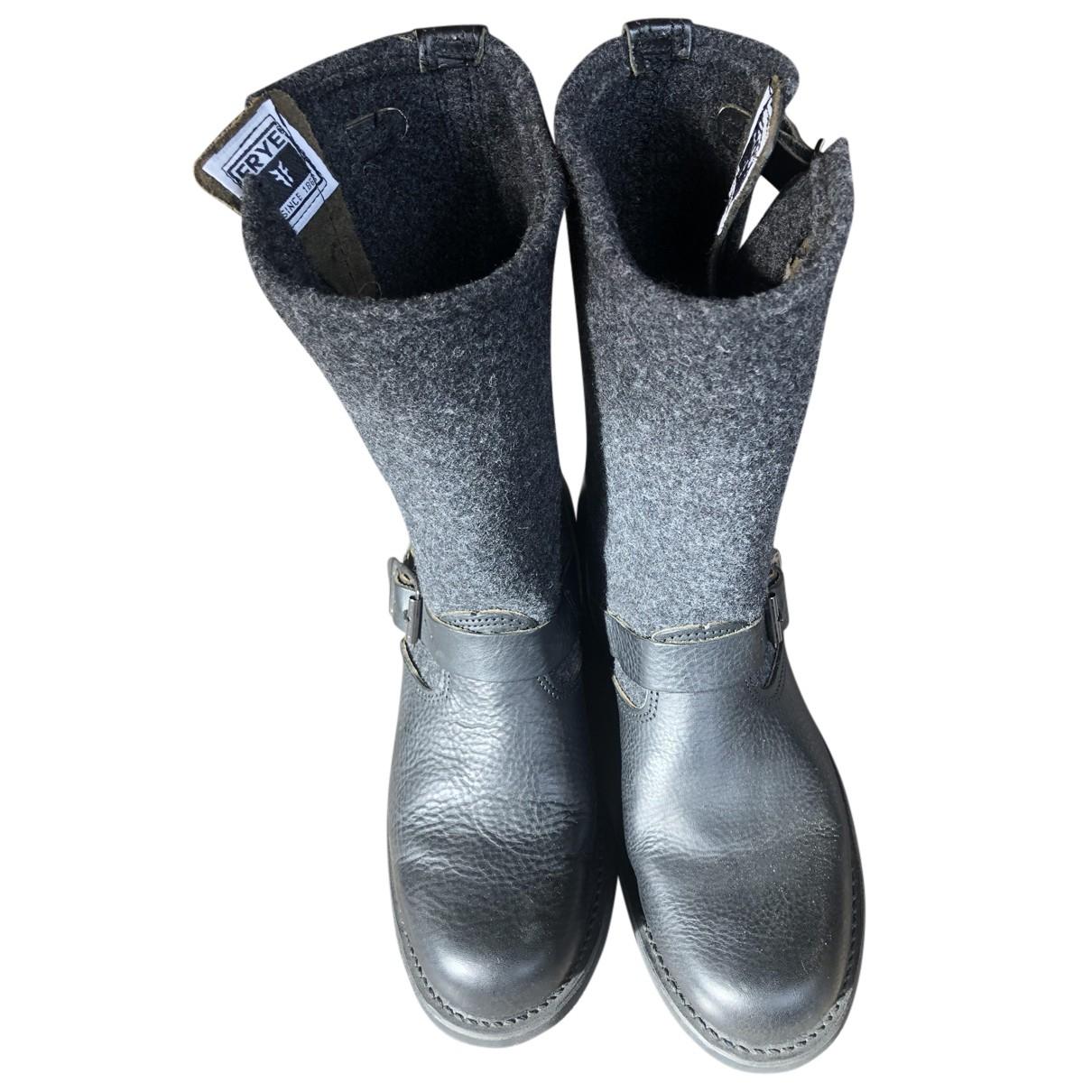 Frye N Black Leather Boots for Women 40 EU