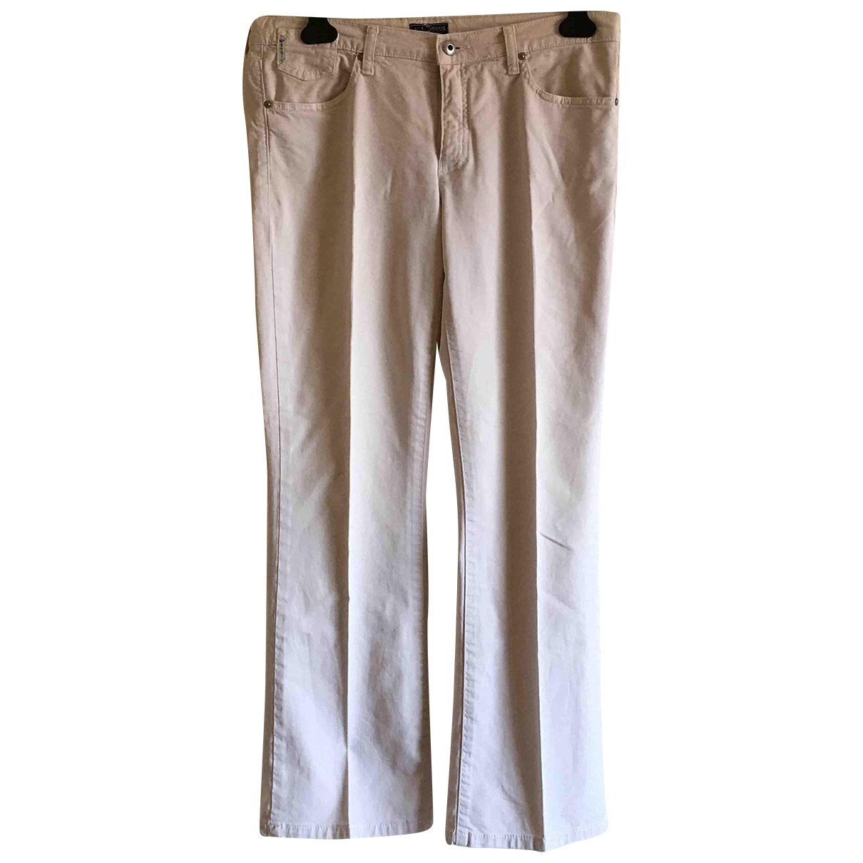 Armani Jeans \N Ecru Cotton Jeans for Women 32 FR