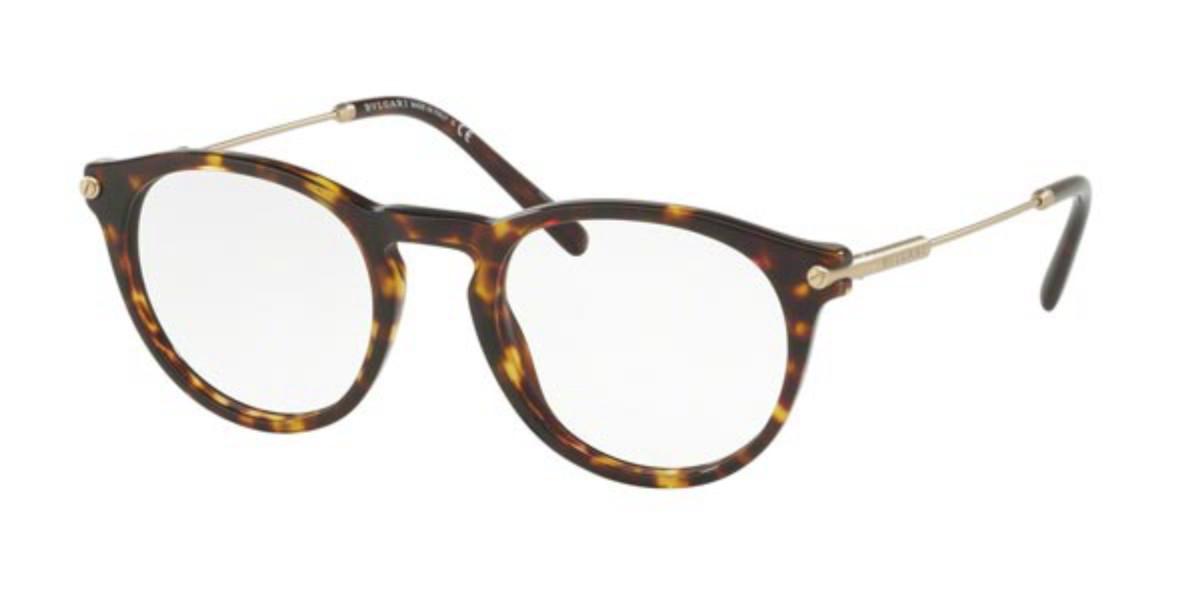 Bvlgari BV3035 504 Men's Glasses Tortoise Size 48 - Free Lenses - HSA/FSA Insurance - Blue Light Block Available