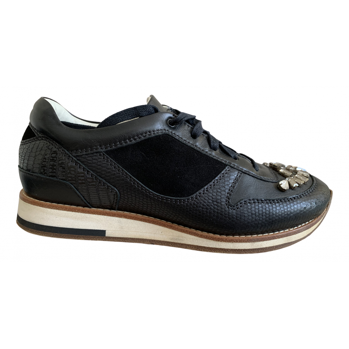 Lanvin N Black Leather Trainers for Women 39 EU