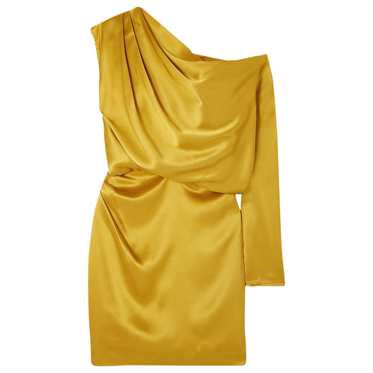 Mason By Michelle Mason \N Kleid in  Gelb Seide