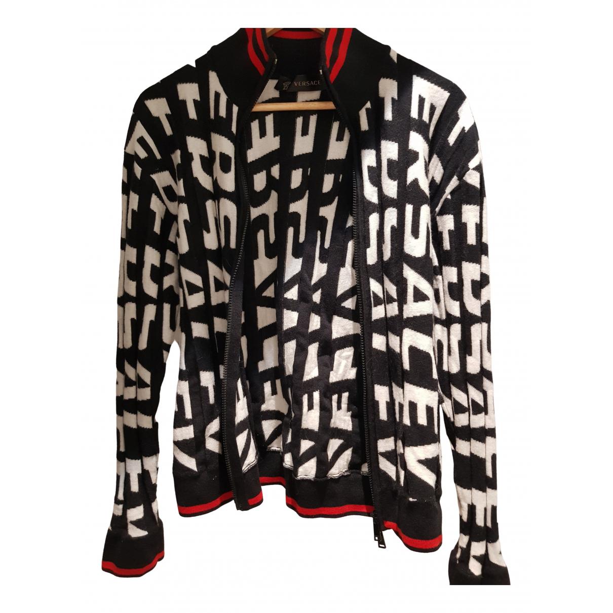 Gianni Versace - Vestes.Blousons   pour homme en laine - noir