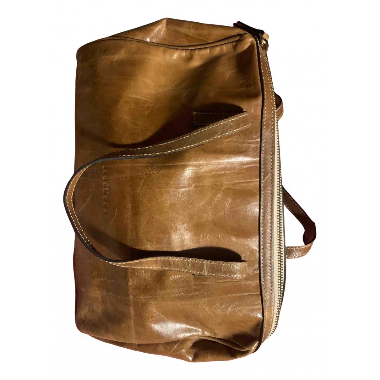 John Richmond N Camel Leather Clutch bag for Women N
