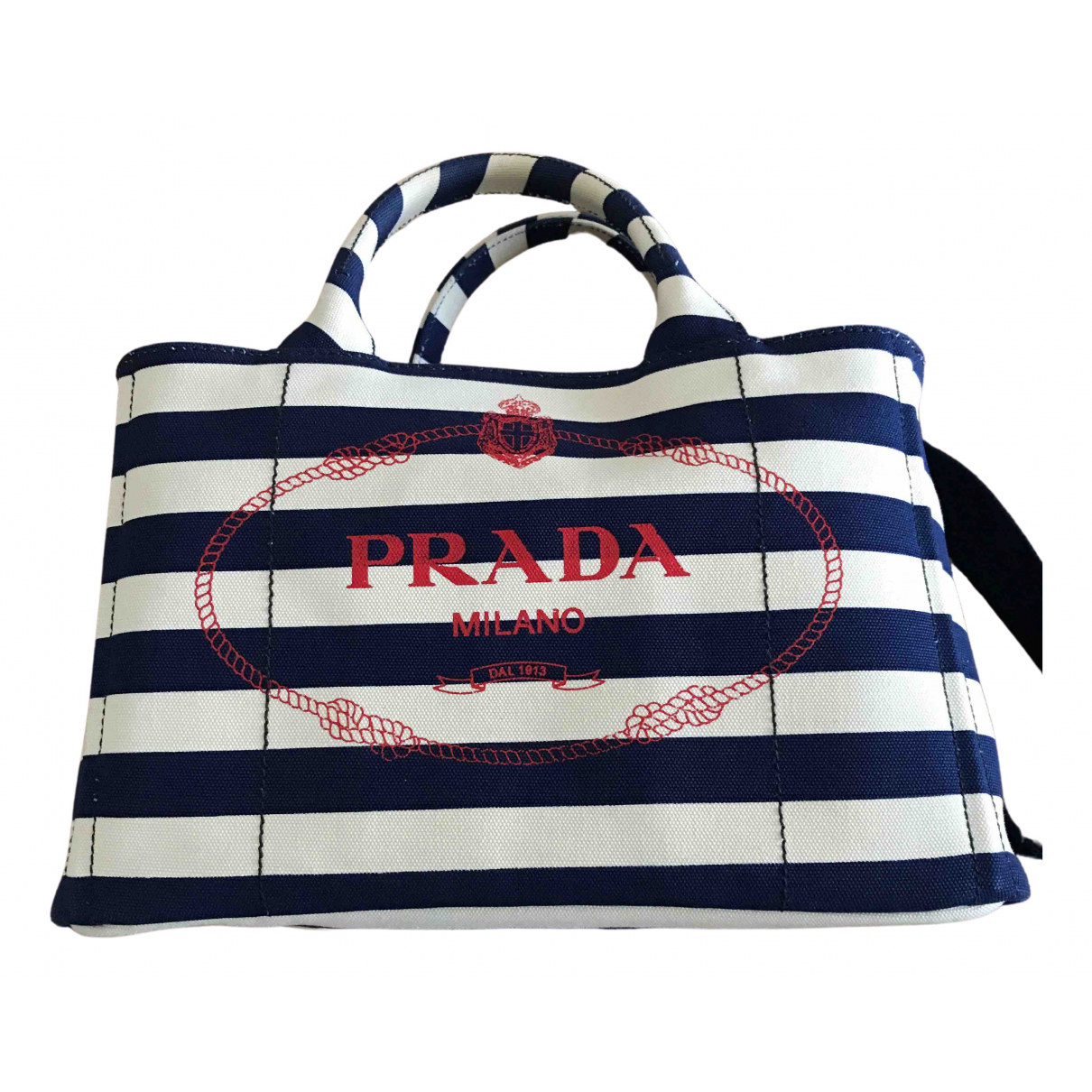 Prada N Blue Cotton handbag for Women N